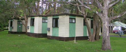 Ensuite cabins at Lighthouse Beach Holiday Village